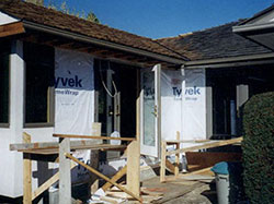 kitchen addition under construction