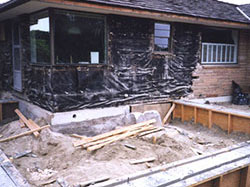 foundation for new addition