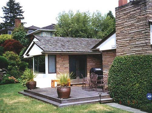 finished kitchen addition and new deck