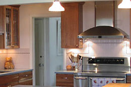 closeup of cooking area in new kitchen