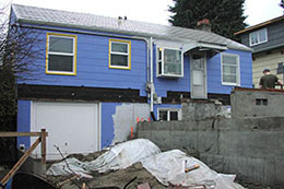 kitchen and room addition under construction