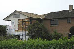 new mster bedroom and garage under construction