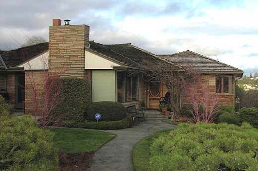 finished addition of master bedroom and garage