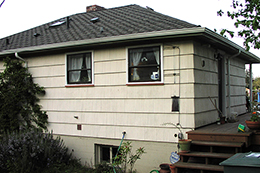 old entry from the side of house