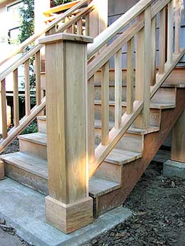 detail of stairs to new entry