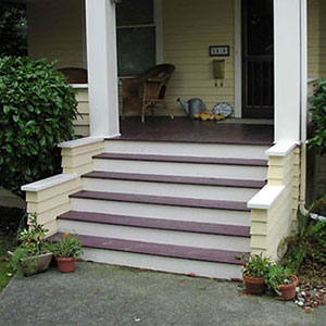 new porch steps